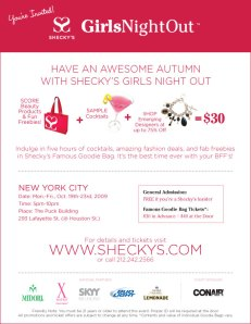 Sheckys GNO October