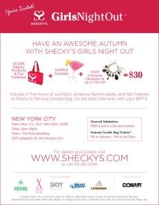 Sheckys GNO October